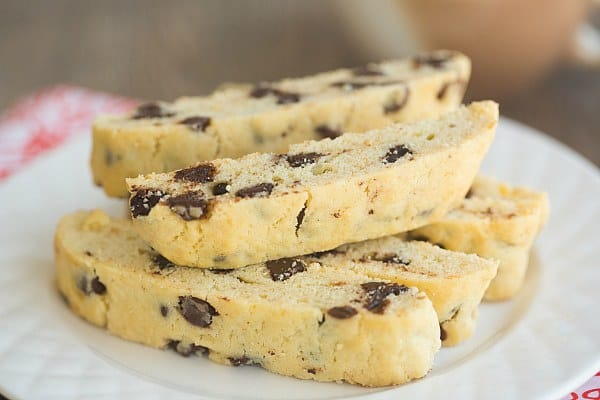 Chocolate Chip Biscotti | browneyedbaker.com #recipe