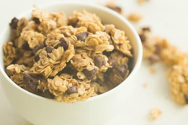 Chocolate Chip Granola   browneyedbaker.com #recipe