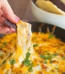 Queso Fundito | browneyedbaker.com #recipe #CincodeMayo