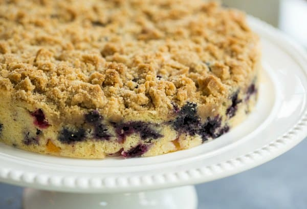 Blueberry-Peach Coffee Cake | browneyedbaker.com
