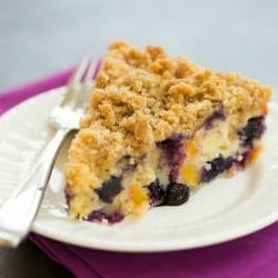 Blueberry and Peach Coffee Cake | Blueberry and Peach Buckle