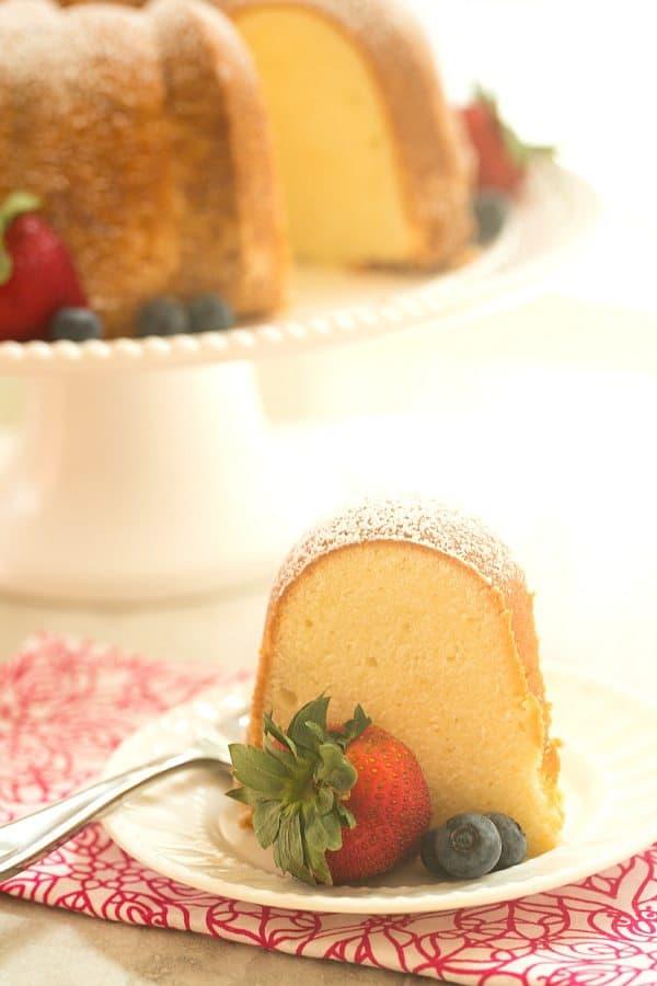 Cream Cheese Pound Cake | browneyedbaker.com #recipe