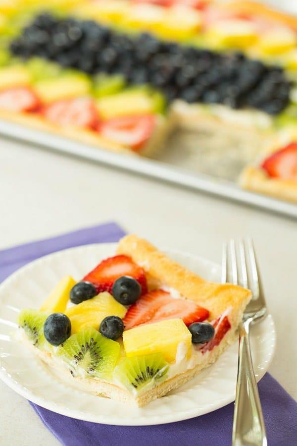 Fruit Pizza | browneyedbaker.com #recipe #summer