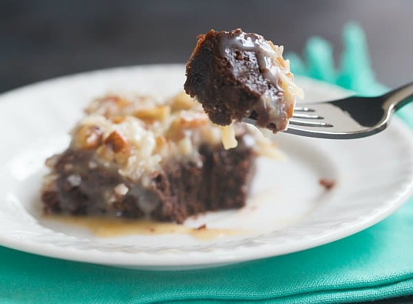German Chocolate Brownies | browneyedbaker.com #recipe #FathersDay