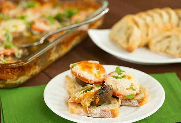 Marinated and Baked Portobello-Tomato Appetizer | browneyedbaker.com