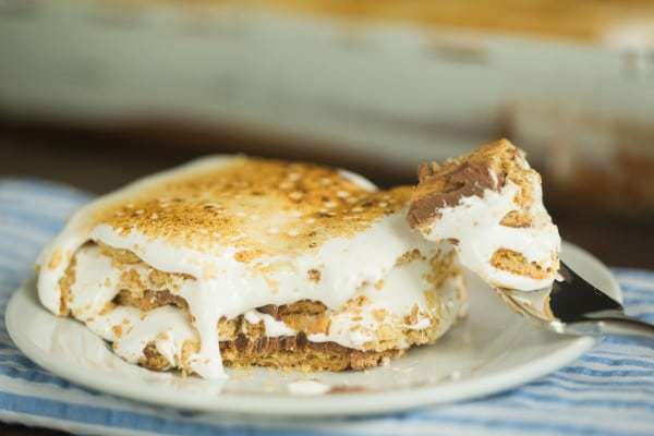 S'mores Icebox Cake | browneyedbaker.com #recipe #summer #nobake