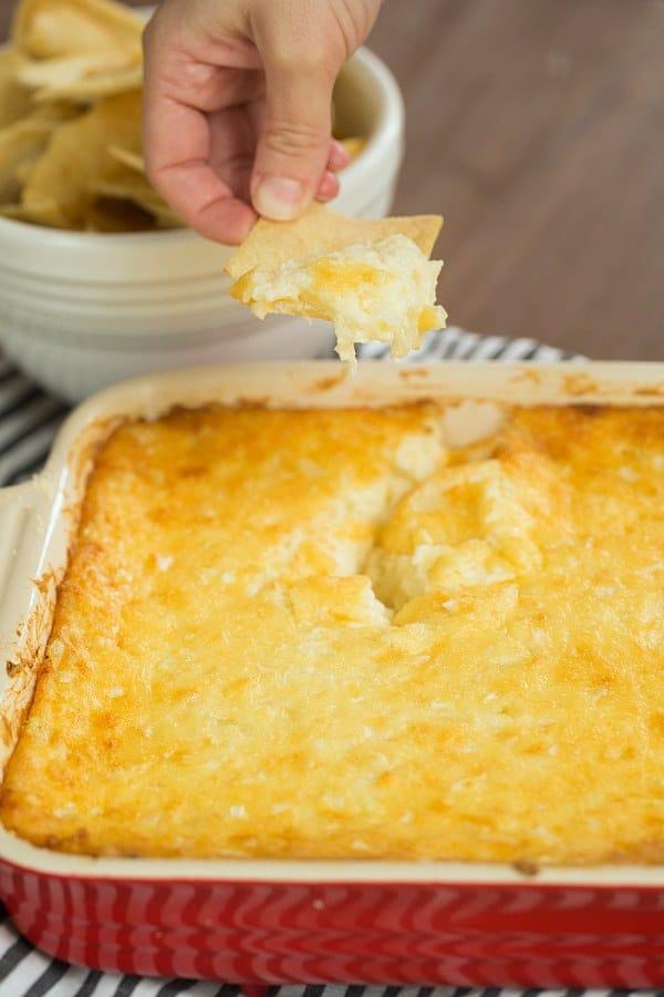Vidalia Onion Dip | browneyedbaker.com #recipe