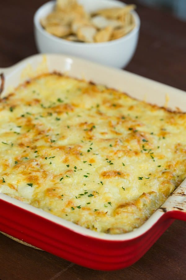 Artichoke-Fontina Dip | browneyedbaker.com #recipe