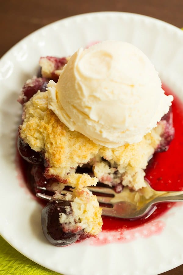 Cherry Cobbler | browneyedbaker.com #recipe