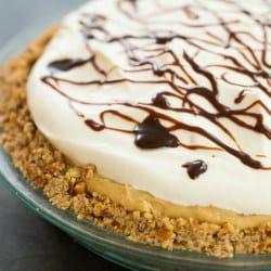 Chocolate-Peanut Butter Banana Cream Pie with Pretzel Crust