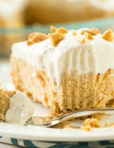 No-Bake Peanut Butter Lover's Pie   browneyedbaker.com #recipe