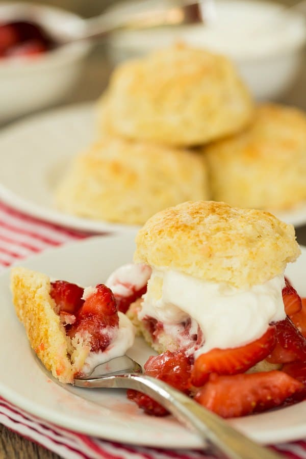 Strawberry Shortcake | browneyedbaker.com #recipe