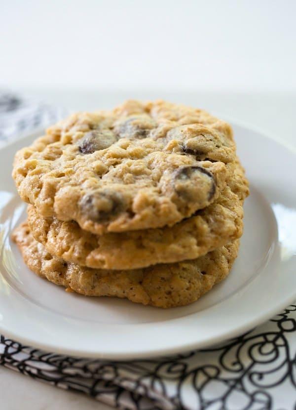 Oatmeal-Dark Chocolate & Coconut Cookies | browneyedbaker.com #recipe