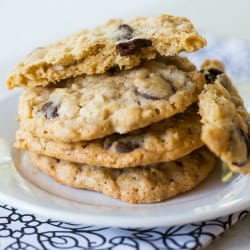 Oatmeal-Dark Chocolate Chip & Coconut Cookies