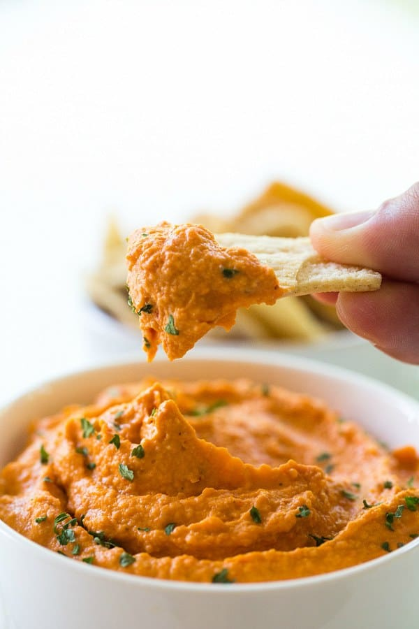 Roasted red pepper hummus recipe for Roasted red pepper hummus recipes
