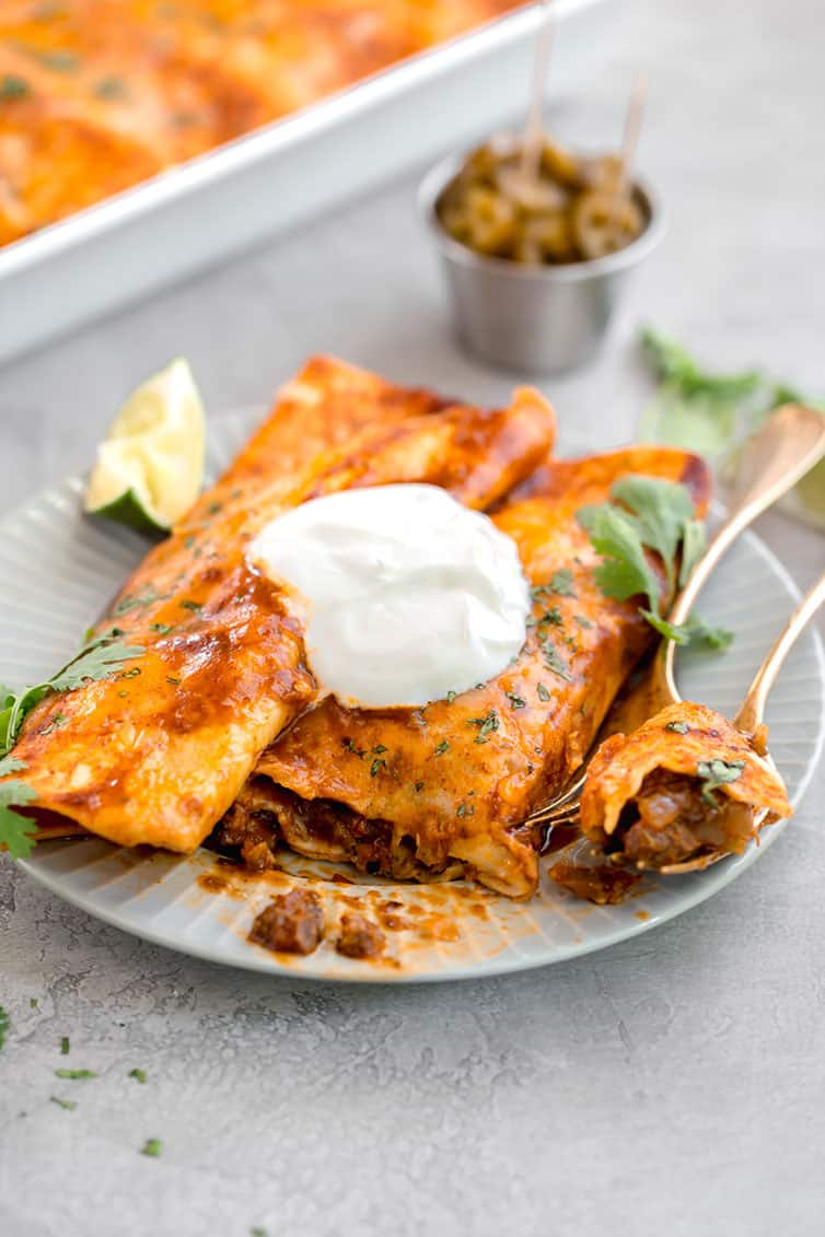 The Best Authentic Beef Enchiladas Brown Eyed Baker