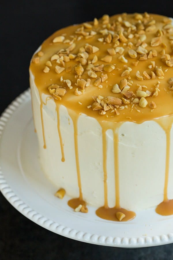 Salted Caramel Apple Cake | browneyedbaker.com #recipe #dessert