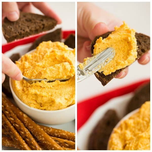 Oktoberfest German Beer Cheese Spread | browneyedbaker.com #recipe