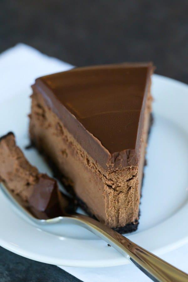 Chocolate Cheesecake | browneyedbaker.com #recipe