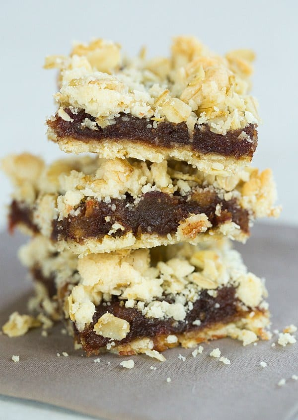 Maple-Date Bars | browneyedbaker.com #recipe
