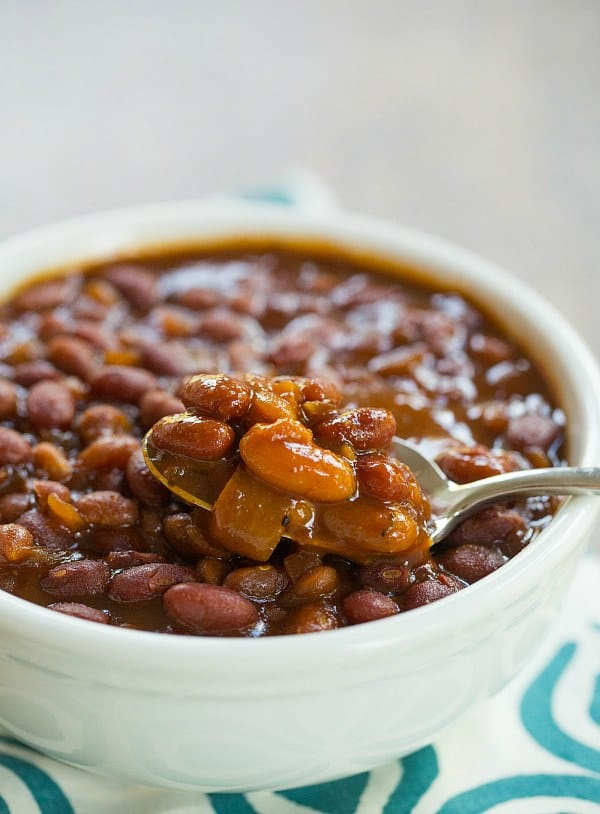 Crock-Pot Root Beer Baked Beans | browneyedbaker.com #recipe #slowcooker