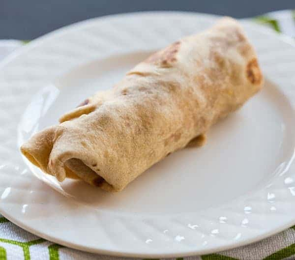 Egg, Sausage and Cheddar Breakfast Burritos | browneyedbaker.com