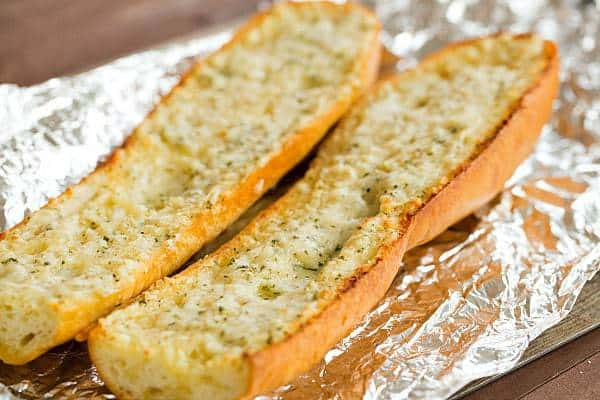 Homemade Cheesy Garlic Bread | browneyedbaker.com