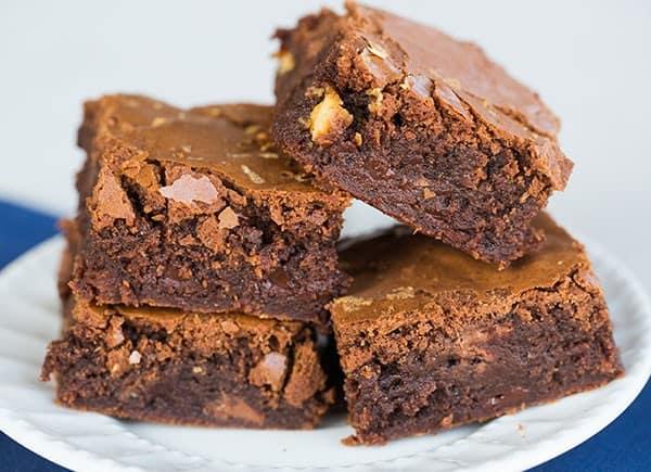 Ultimate Triple Chocolate Chip Brownies | browneyedbaker.com