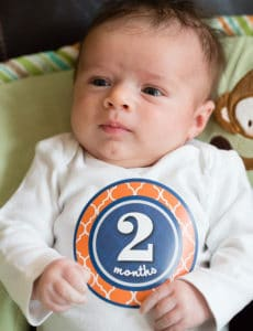 Joseph David - 2 months old! | browneyedbaker.com