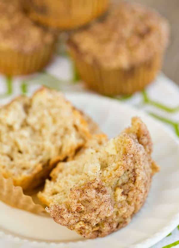 Spiced Apple Muffins with Cinnamon-Sugar Crunch Topping | browneyedbaker.com