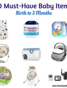 Top 10 Must-Have Baby Items: Birth to 3 Months - All of the essentials! | browneyedbaker.com