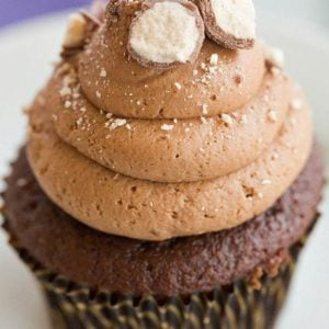 Malted Milk Chocolate Cupcakes - Both the cupcakes and the frosting are infused with malted milk powder.   browneyedbaker.com
