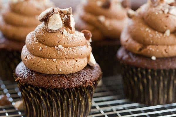 Malted Milk Chocolate Cupcakes - Both the cupcakes and the frosting are infused with malted milk powder. | browneyedbaker.com