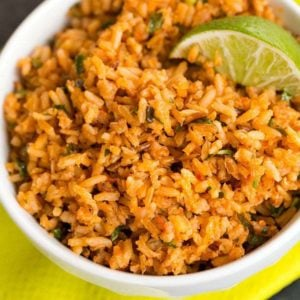 An easy authentic Mexican Rice recipe. | browneyedbaker.com