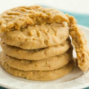 Chunky Chewy Peanut Butter Cookies Brown Eyed Baker