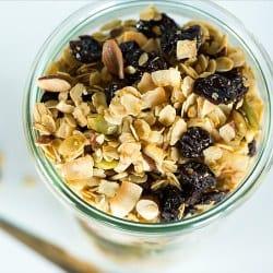Cherry-Almond Coconut Granola | Brown Eyed Baker