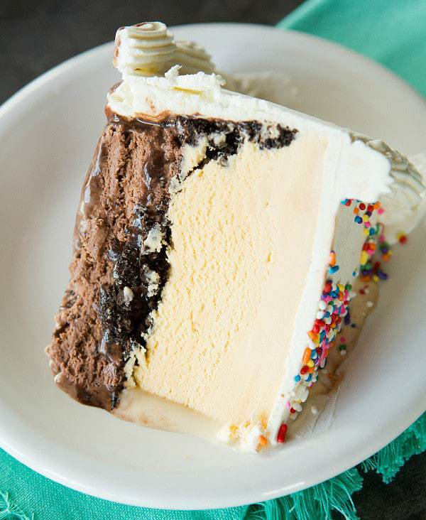 make an ice cream cake