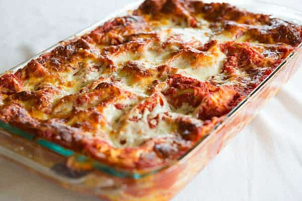 Classic Lasagna Recipe - Layers upon layers of noodles, sauce and lots of cheese! | browneyedbaker.com