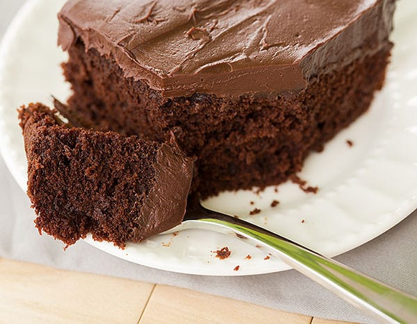 Chocolate Cake with Whipped Mocha Ganache Frosting | browneyedbaker.com