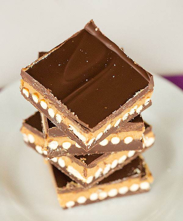 No-Bake Chubby Hubby Chocolate Bars | browneyedbaker.com