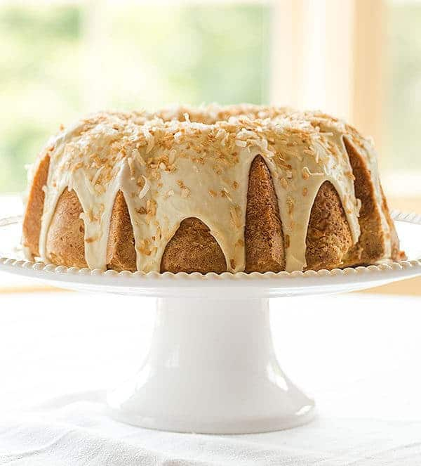 Coconut Cake With Chocolate Chunks And Coconut Drizzle Recipe ...
