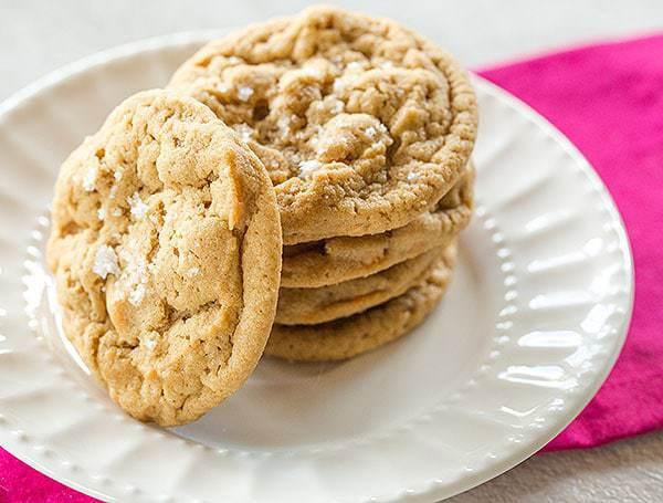 Salted Peanut Butter Butterscotch Chip Cookies