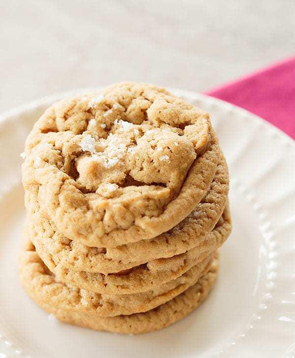 Salted Peanut Butter-Butterscotch Chip Cookies | browneyedbaker.com