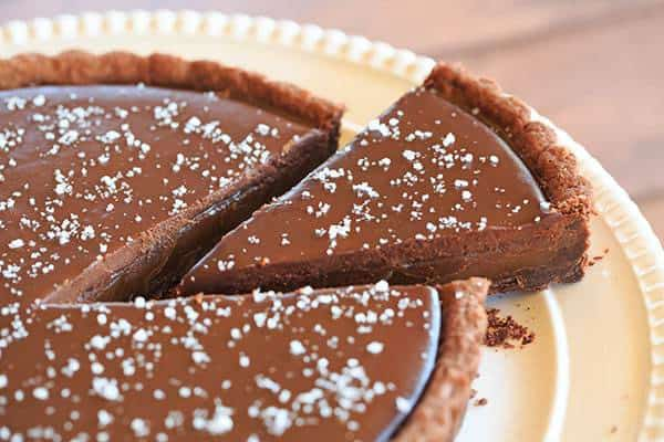 Salted Chocolate Caramel Tart | https://www.browneyedbaker.com/salted-chocolate-caramel-tart/Salted Chocolate Caramel Tart | https://www.browneyedbaker.com/salted-chocolate-caramel-tart/