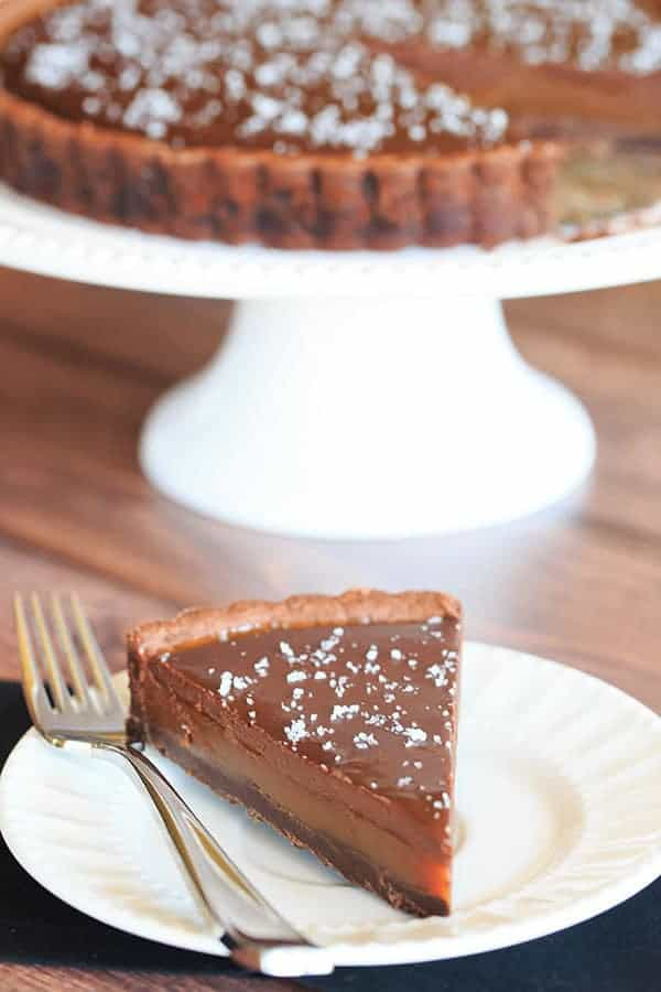 Salted Chocolate Caramel Tart | https://www.browneyedbaker.com/salted-chocolate-caramel-tart/