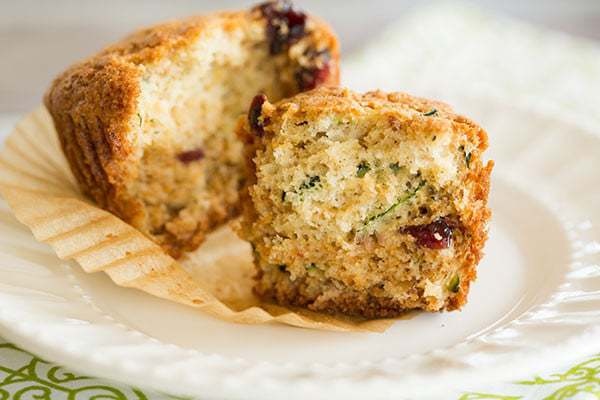 Zucchini and Orange Marmalade Muffins with Cranberries & Pecans | browneyedbaker.com