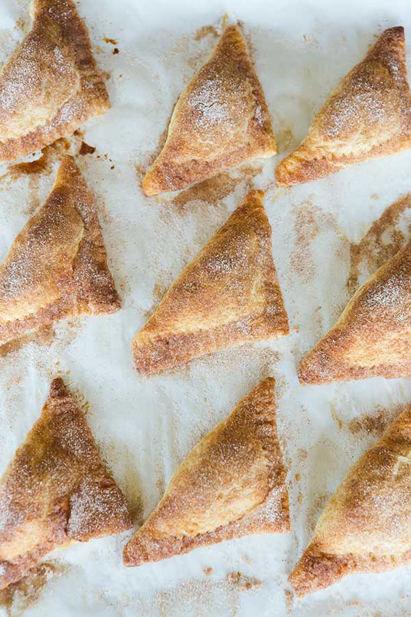 Apple Turnovers FROM SCRATCH! Flaky pastry dough and a slightly sweet apple filling... | https://www.browneyedbaker.com/apple-turnovers-from-scratch/