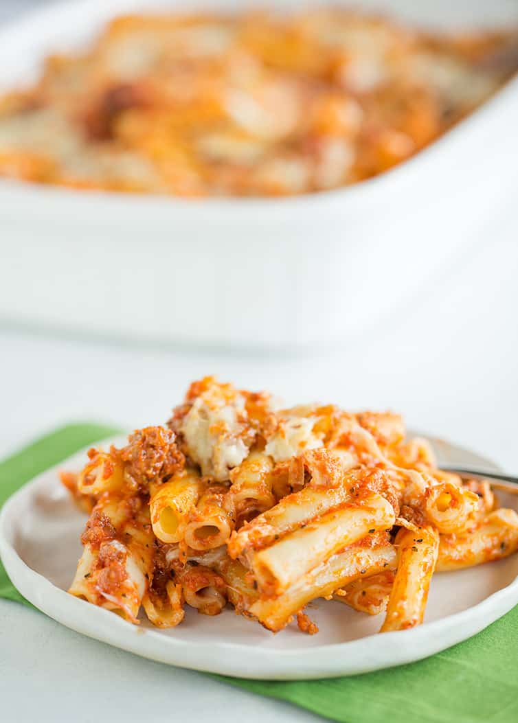 Easy Baked Ziti with Sausage | Brown Eyed Baker