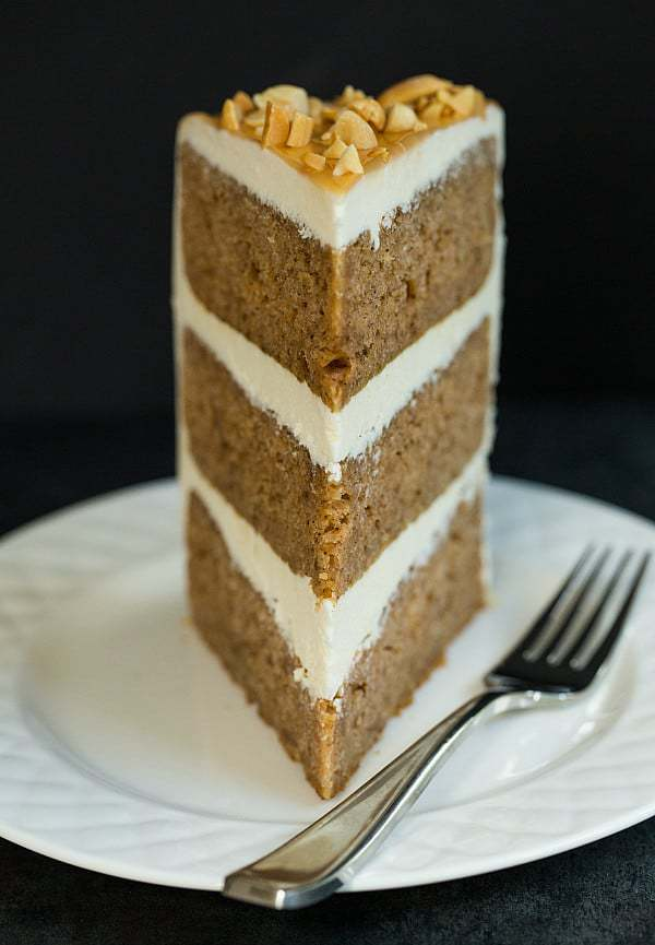 Apple Pecan Spice Cake With Cheesecake Filling