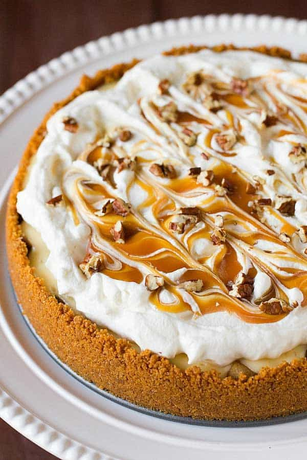 Salted Caramel Apple Cheesecake Pie (and 10 other fabulous Thanksgiving pie ideas)